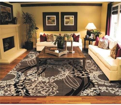 Kirksey Power Loom Wool Brown Rug Living Room Area Rugs Rugs In Living Room Large Living Room