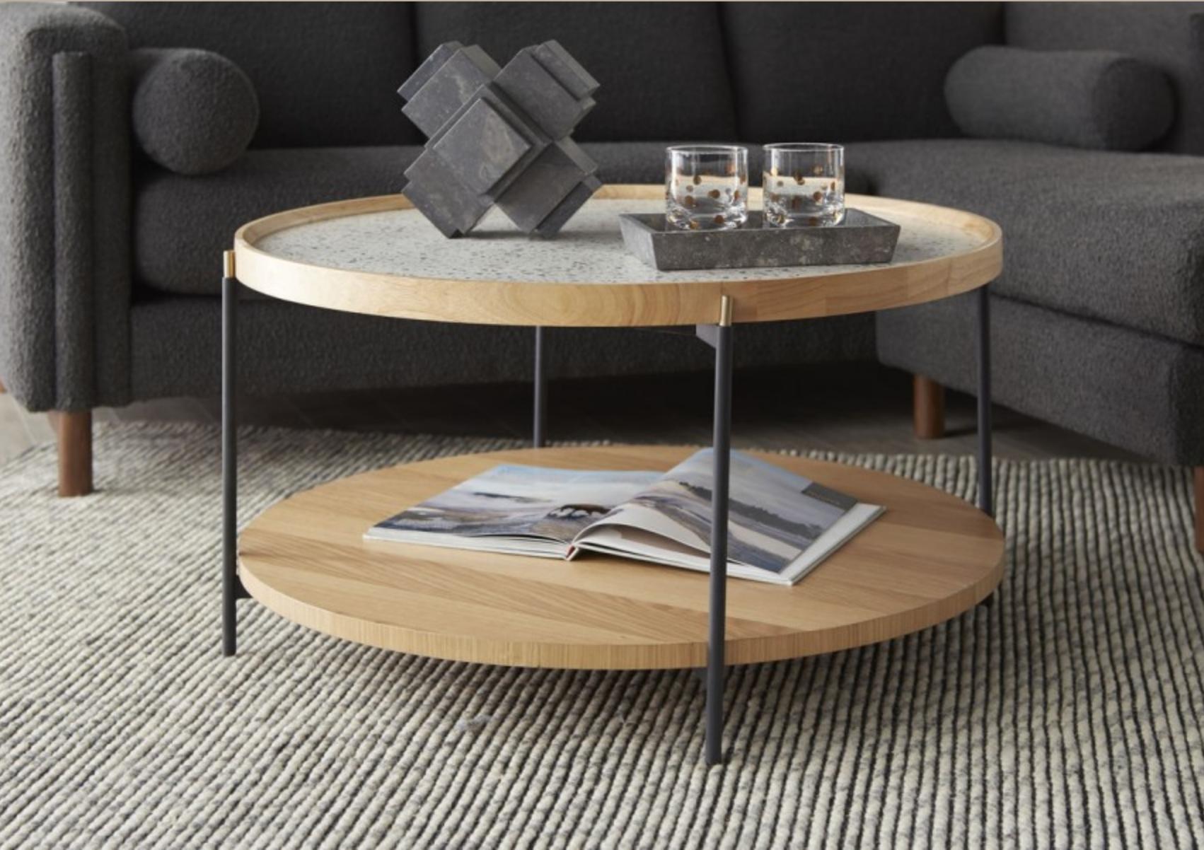 Bobby Berk Arne Cocktail Table Coffee Table Home Coffee Tables Coffee Table With Storage [ 1202 x 1702 Pixel ]