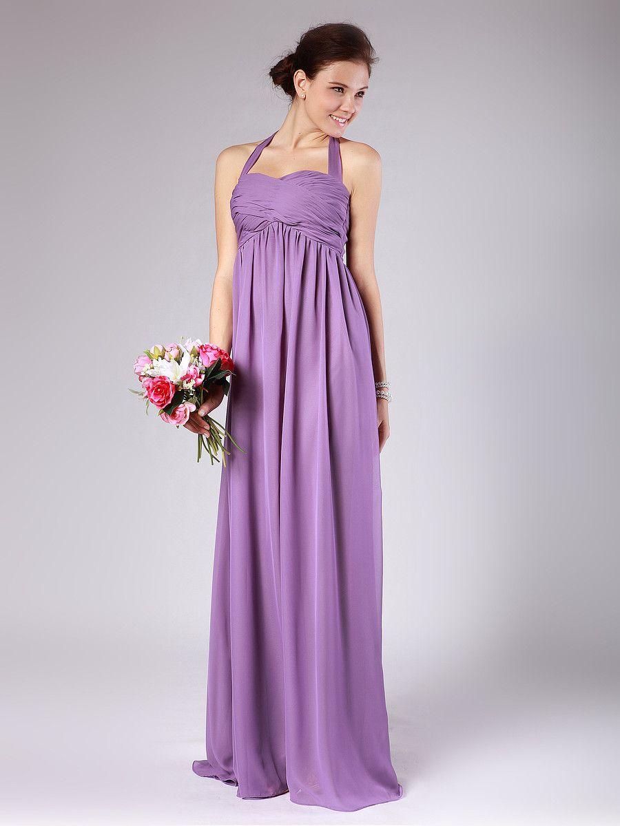 Pleated Halter Bridesmaid Dress | Marriage | Pinterest | Vestidos de ...