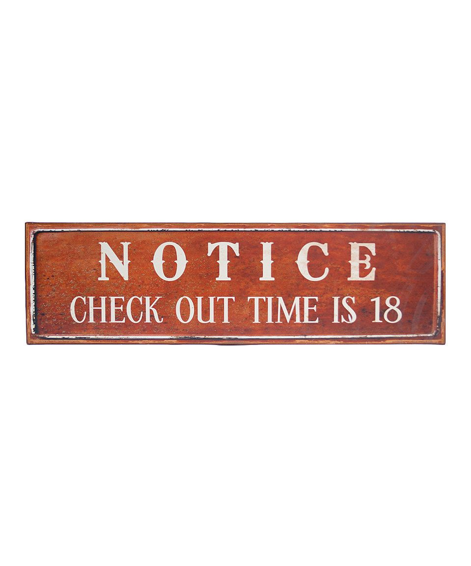 Word Wall Decor Plaques Signs Adorable Another Great Find On #zulily 'notice' Metal Wall Signvip Design Inspiration