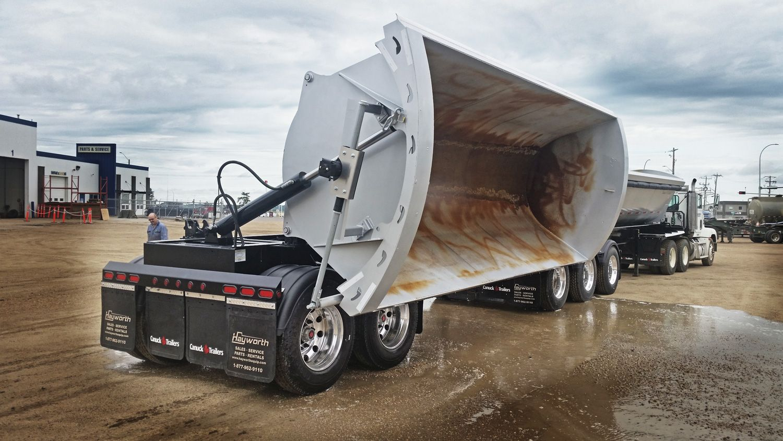 Centerline Super B Side Dump Trailer   Dump trailers, Dump trucks, Dumped