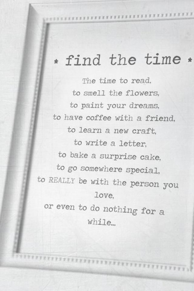 Find the time....