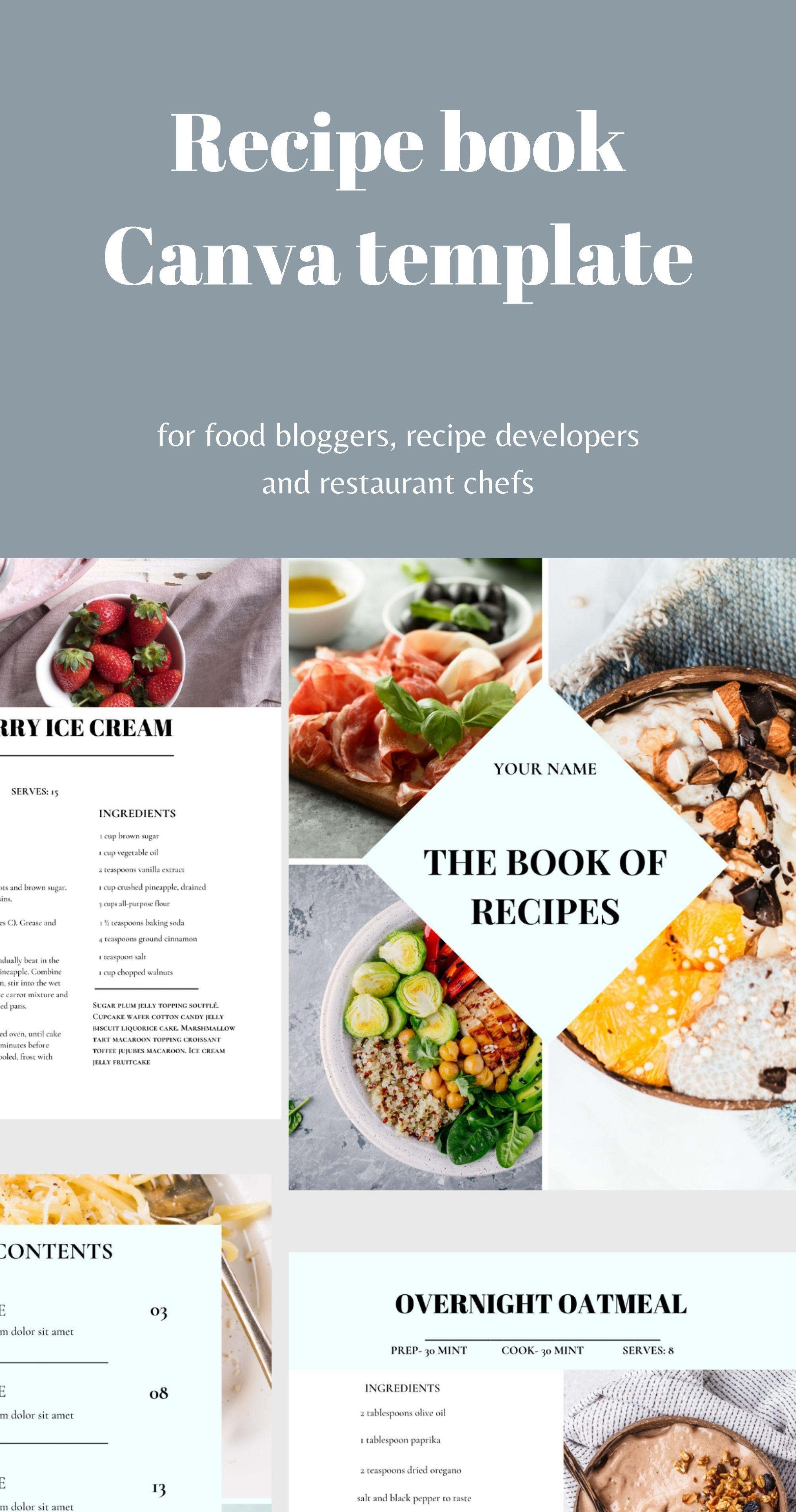 Recipe book Cookbook template Recipe Card.Recipe template.Lead Magnet.Business