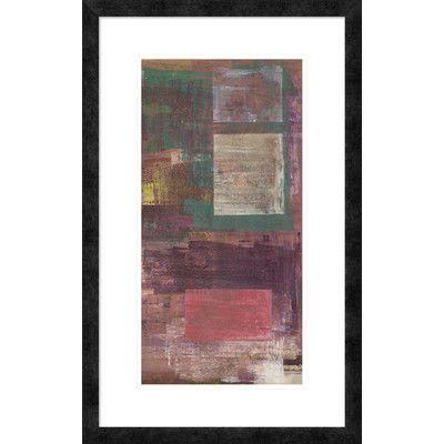 "Global Gallery 'Kaleidos III' by Italo Corrado Framed Painting Print Size: 32"" H x 20"" W x 1.5"" D"