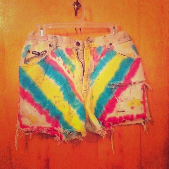 Tie dye vintage shorts Shorts I made lee Jeans