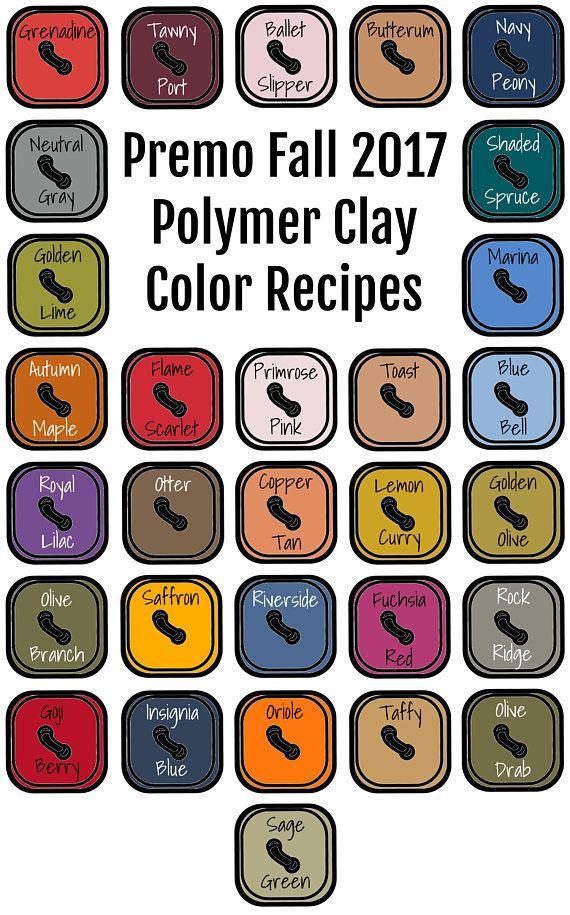 Premo Brand Polymer Clay Color Recipe Ebook For Fall Winter 2017