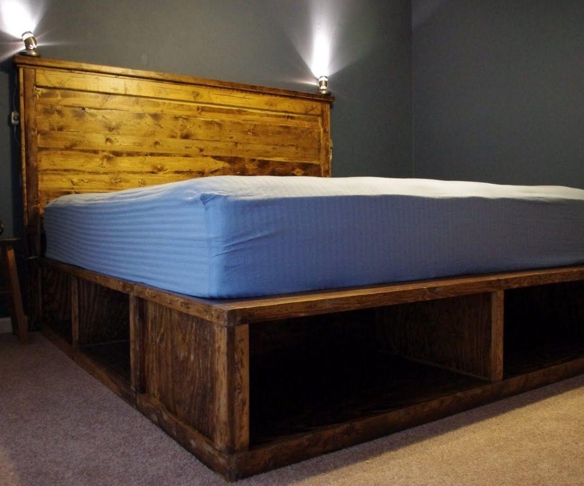 Diy Platform Bed With Storage Plans Platform bed designs