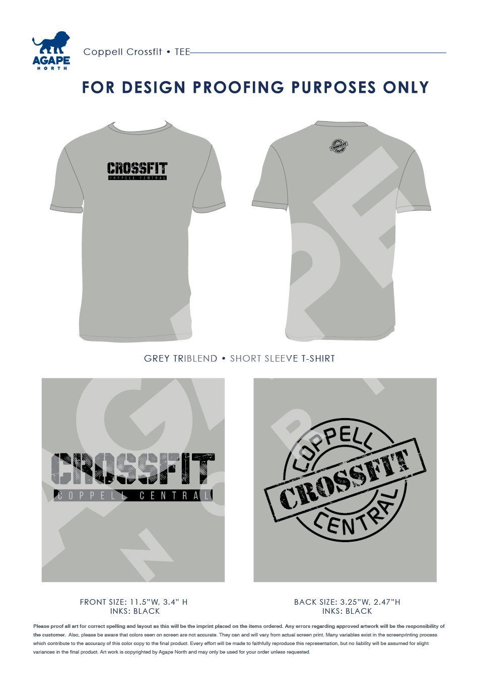 Agape North Custom Apparel That Gives Back Coppellcrossfit