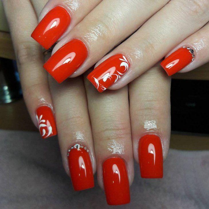 Cute Red Nail Art Designs 2018 Fingernails Pinterest Red Nail
