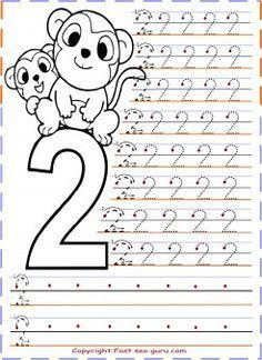 free printables numbers tracing worksheets 2 for kindergarten ...