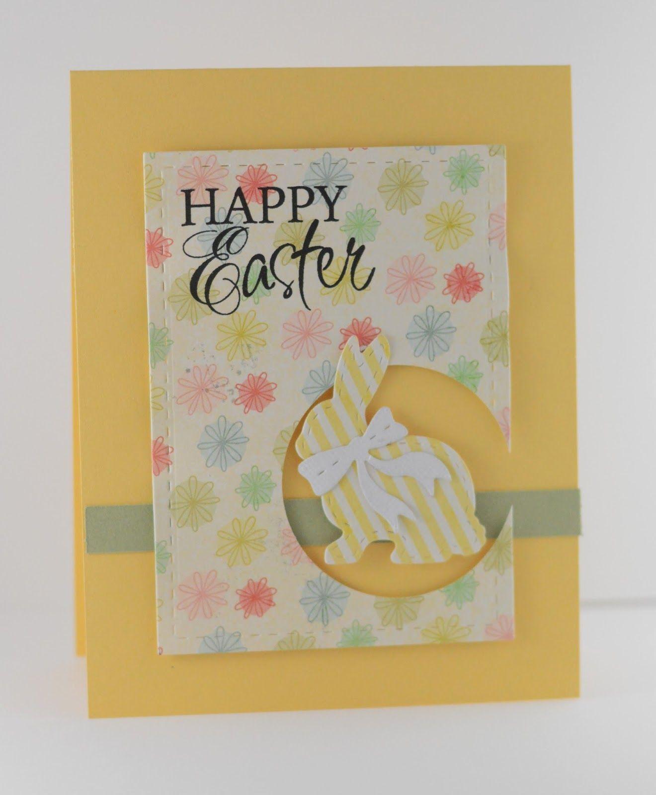 Handmade Easter Card By Lynn Mangan Using The Happy Easter Plain