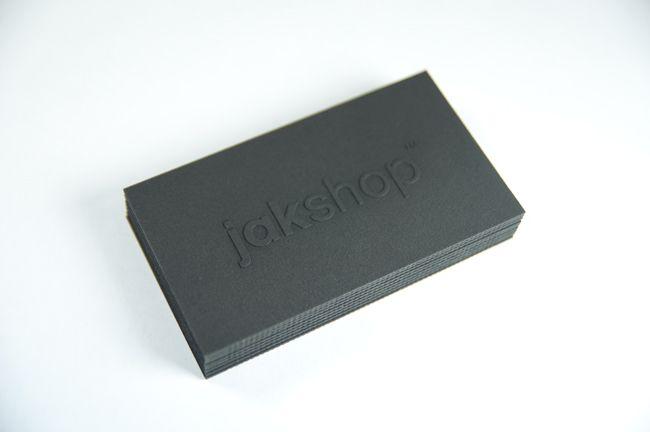 My new business cards for jakshop™. Laser etched...  