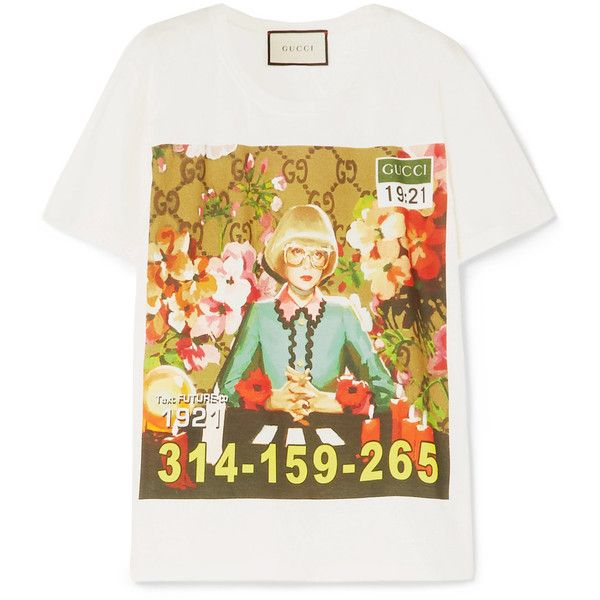 ca53949a120 Gucci Oversized printed cotton-jersey T-shirt (2.366.525 COP ...