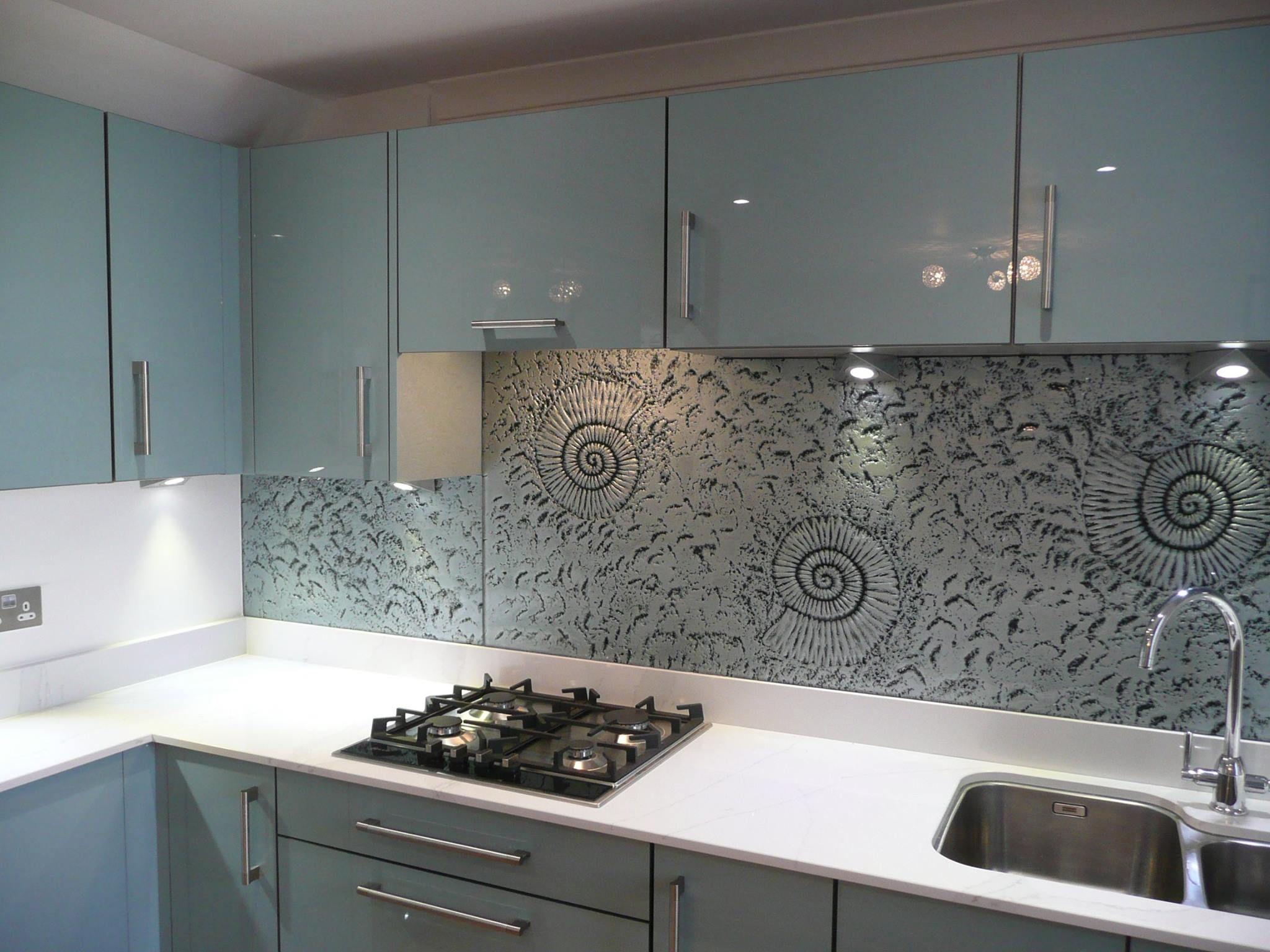 Phoenix Metallic Blue Gloss Acrylic Door Kitchen Kitchendesign