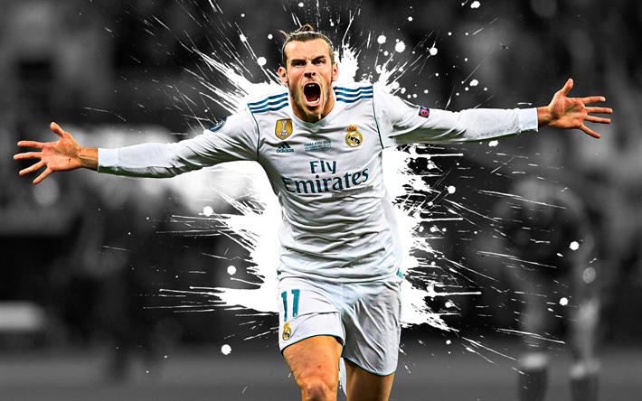 Download Wallpapers Gareth Bale 4k Art Real Madrid Welsh