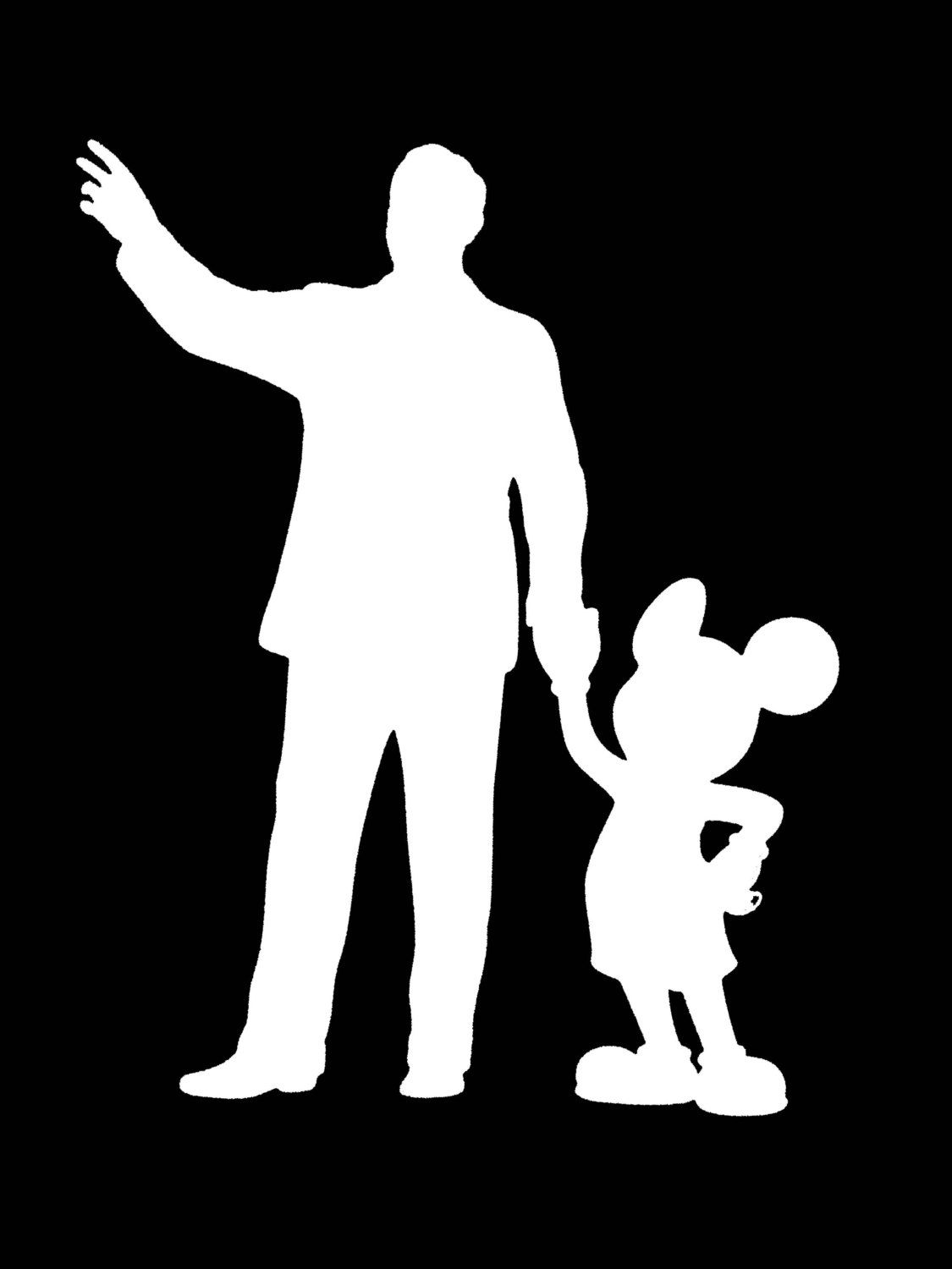 WALT DISNEY AND MICKEY MOUSE Walking Together at DISNEYLAND Vinyl Decal