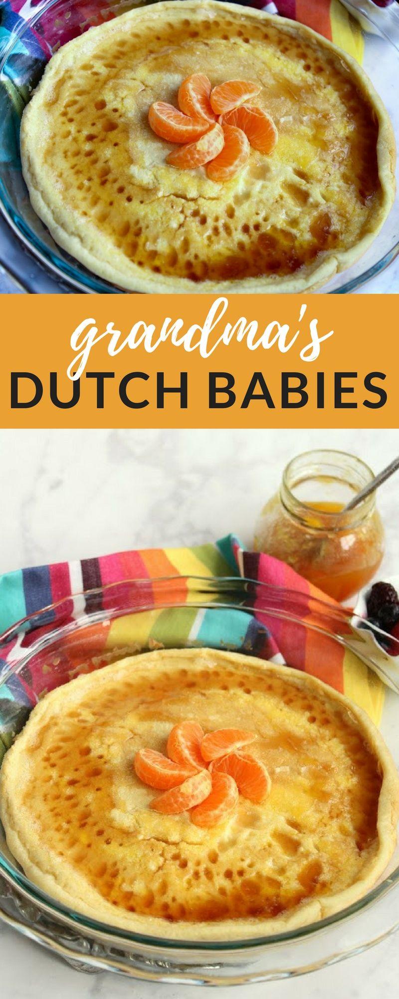 Grandma's Dutch Babies | Recipe in 2020 | Delicious ...