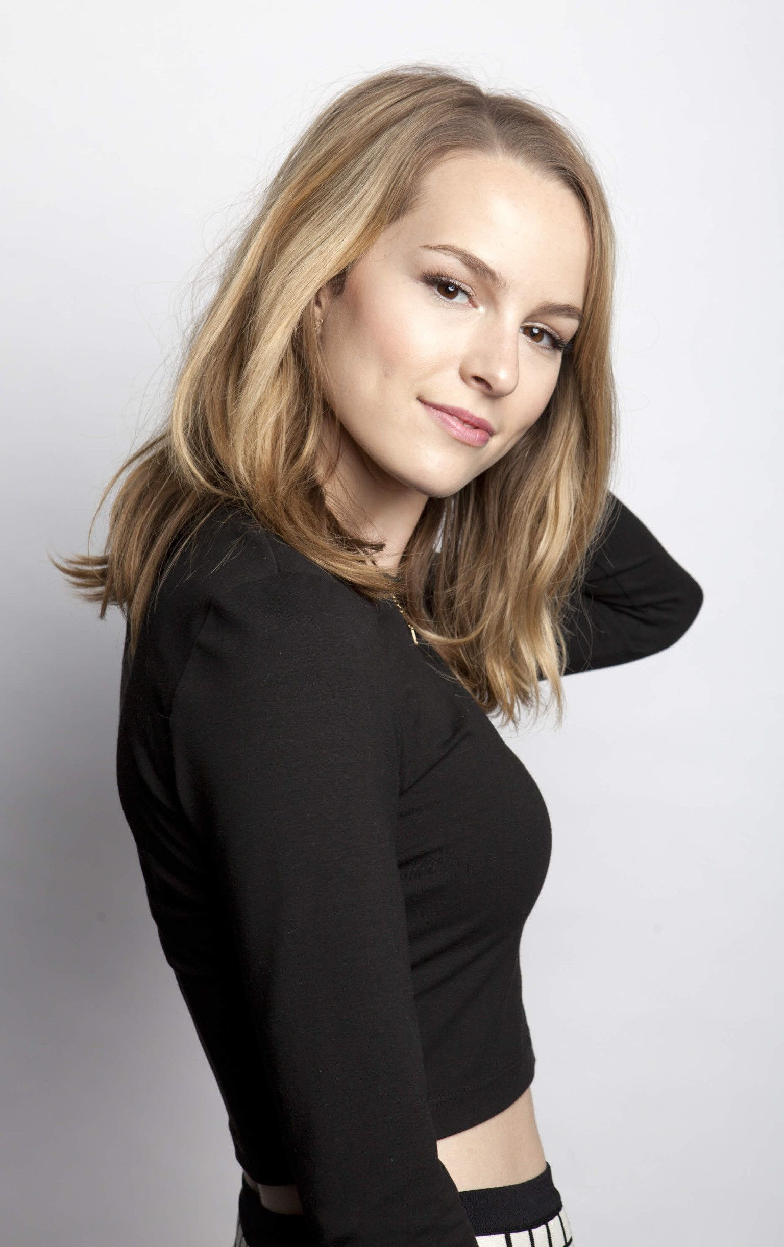Bridgit Mendler  - 2018 Light blond hair & alternative hair style.