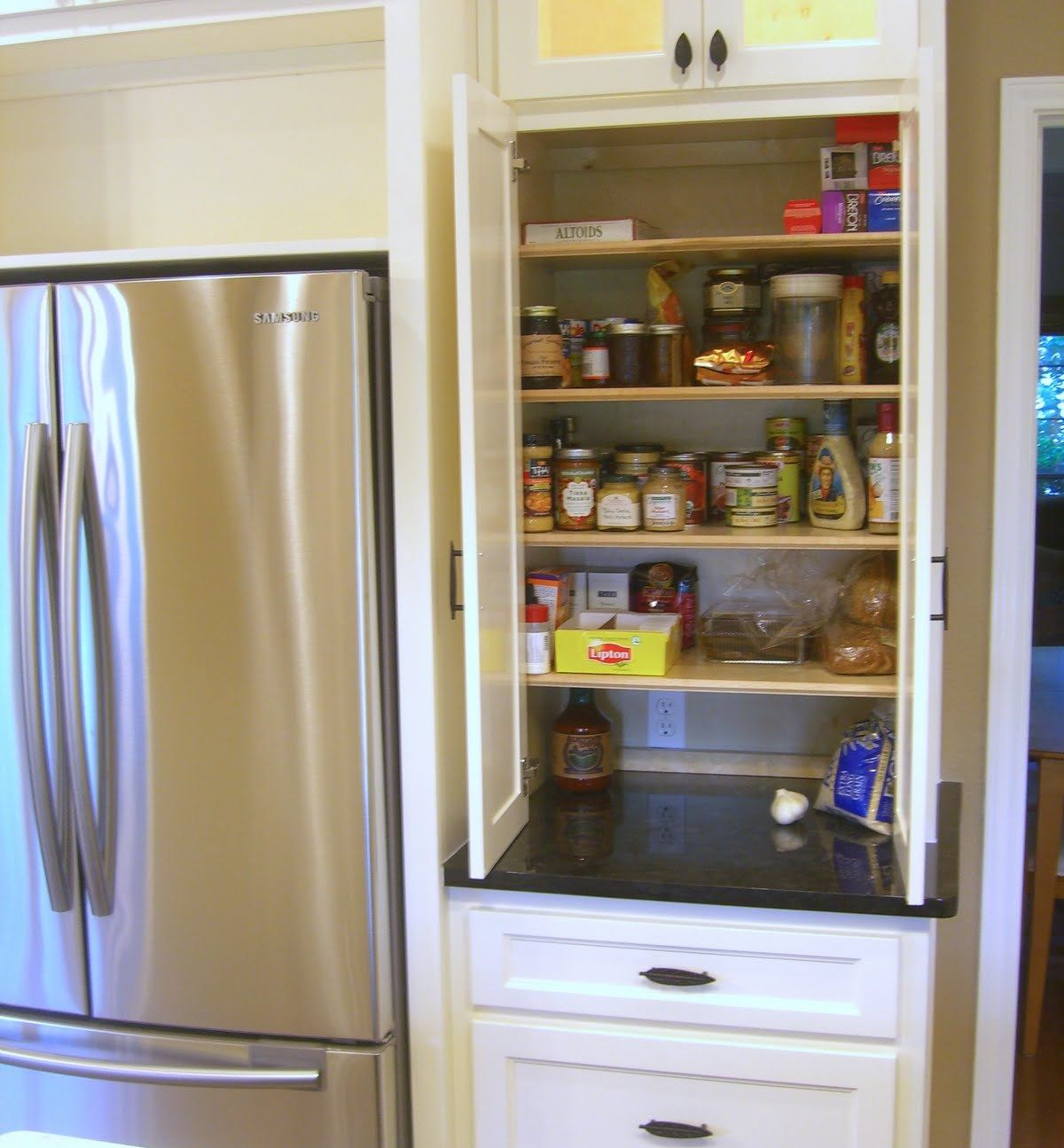 Perfect Pantry Next To Counter Depth Fridge. Kitchen Pantry DesignKitchen Pantry  CabinetsKitchen IdeasSmall ... Part 25