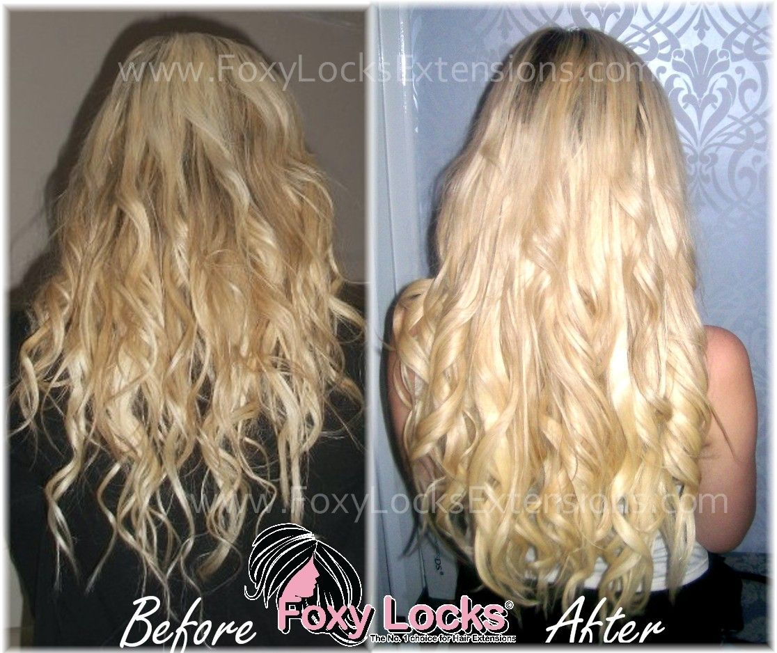 Hair Extensions Foxy Locks Clip In Human Hair Extensions Thick