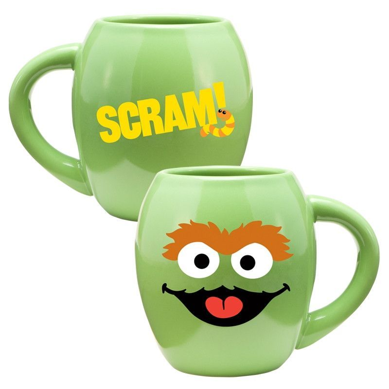 Oscar the Grouch ... Now available at Living for Pop! http://www.wonder-pop.com/products/oscar-the-grouch-18oz-oval-ceramic-mug?utm_campaign=social_autopilot&utm_source=pin&utm_medium=pin