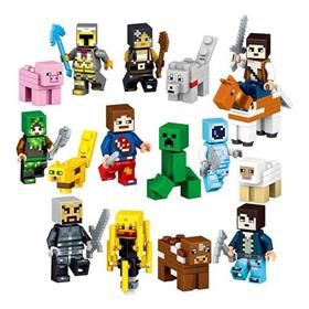 USD 10.99 Free Shipping8PCS My World Minecraft Building Block Action Figures Toys