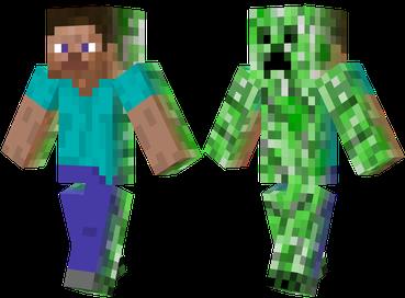 Half Human Minecraft Skin Minecraft Skins Creeper Minecraft Skins Creeper Minecraft