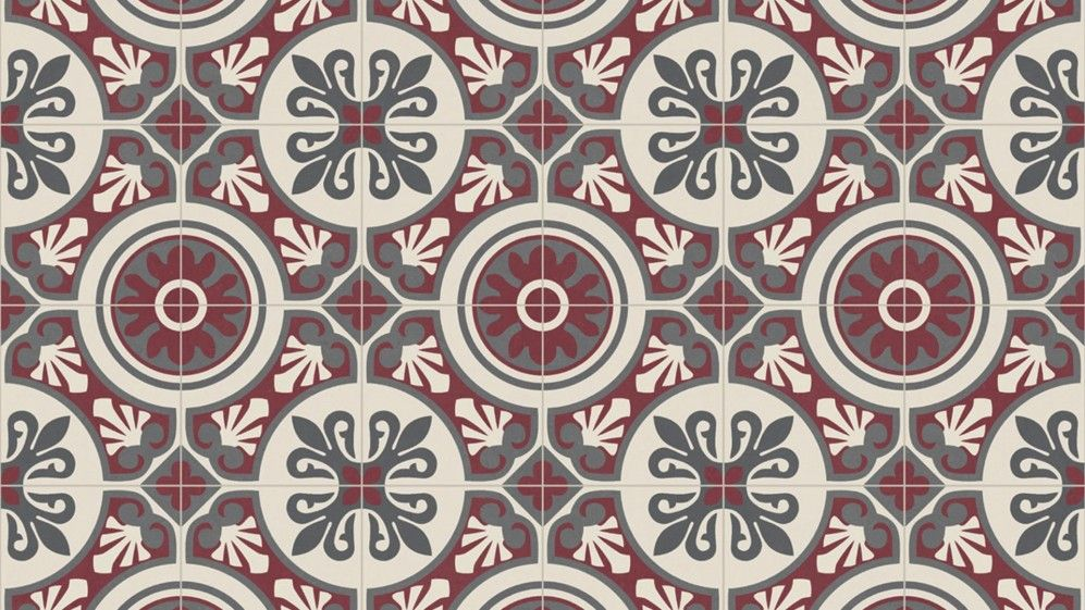 Sol vinyle emotion portuguese tile red saint maclou holiday home ideas portuguese tiles - Sol vinyle pour cuisine ...