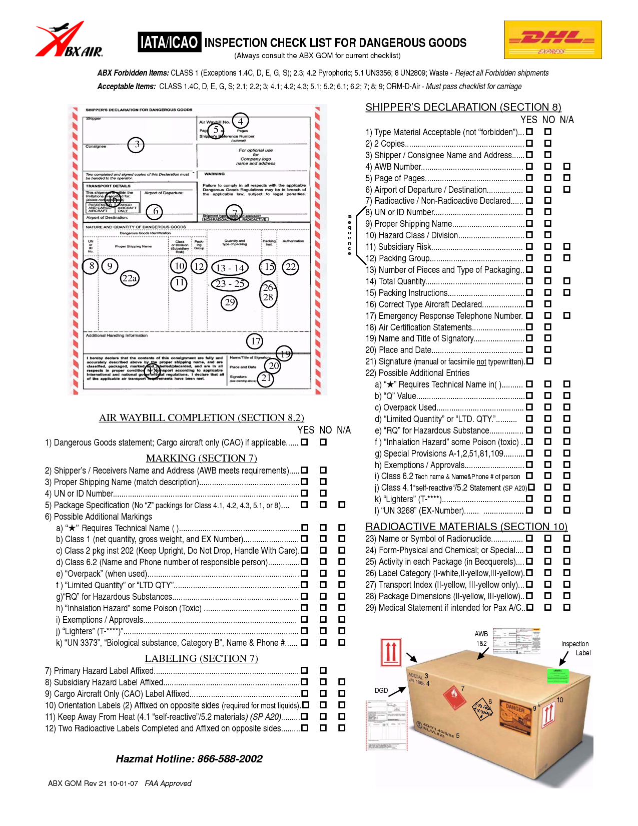 Iata  Icao Inspection Checklist For Dangerous Goods  Supply