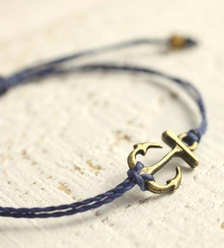 Bronze Anchor Cord Bracelet by Cherise's Pieces on Scoutmob Shoppe
