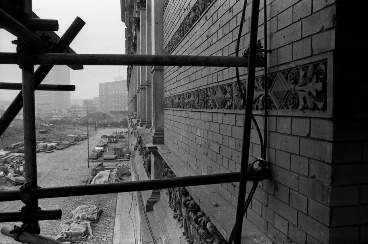 Berlin 1986. View from a scaffold on the Martin-Gropius-Bau, looking towards the place I stood to take the previous photograph on this blog.