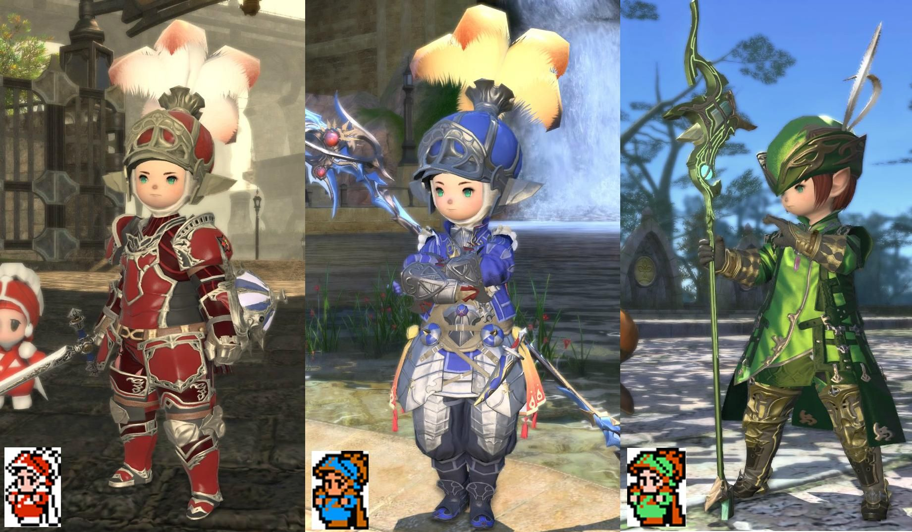 Finally Finished My 3 Glamour Sets In Final Fantasy Xiv Based On