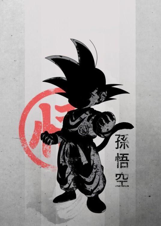 Son Goku Sangoku Dessin Noir Et Blanc Et Dessin