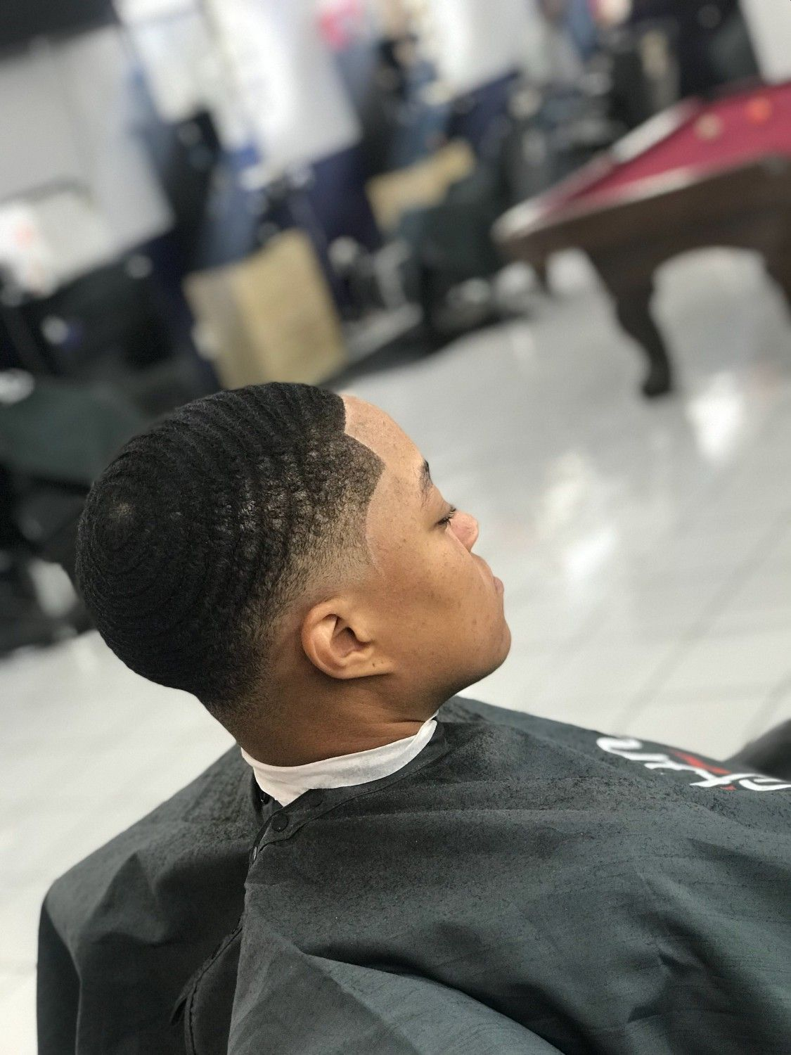 Drop Fade Waves Haircut With Part 30