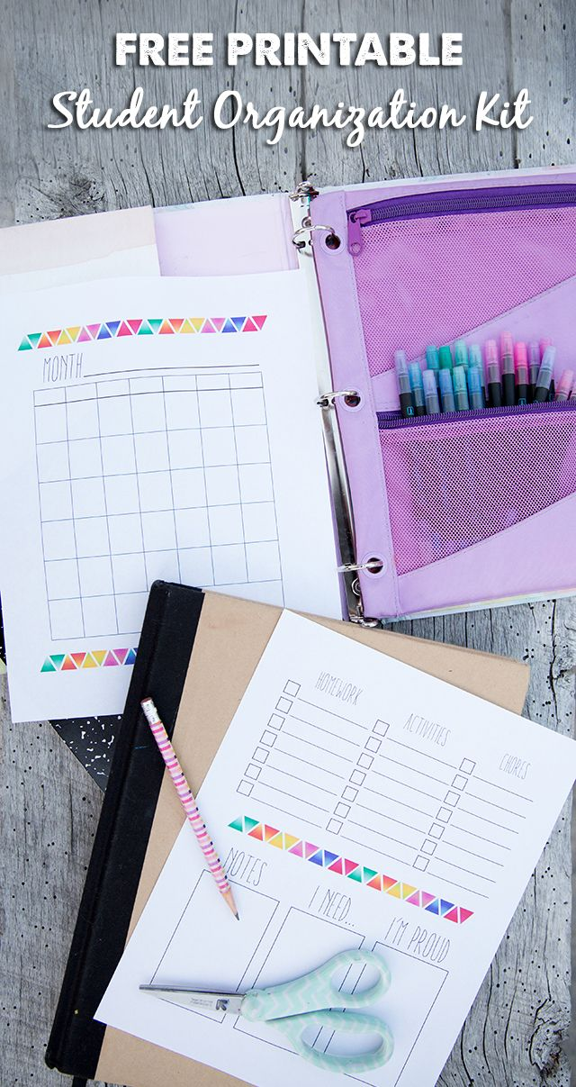 Free Printable The Organized Student Kit is part of School Organization Printables - Kristin is back today with another super helpful free printable  This one will teach your kids indpendence while keeping them organized (two things you guys know I love)  Something else that I really love, though, is the section where kids can record what they're proud of for the day or week  Not to get off …
