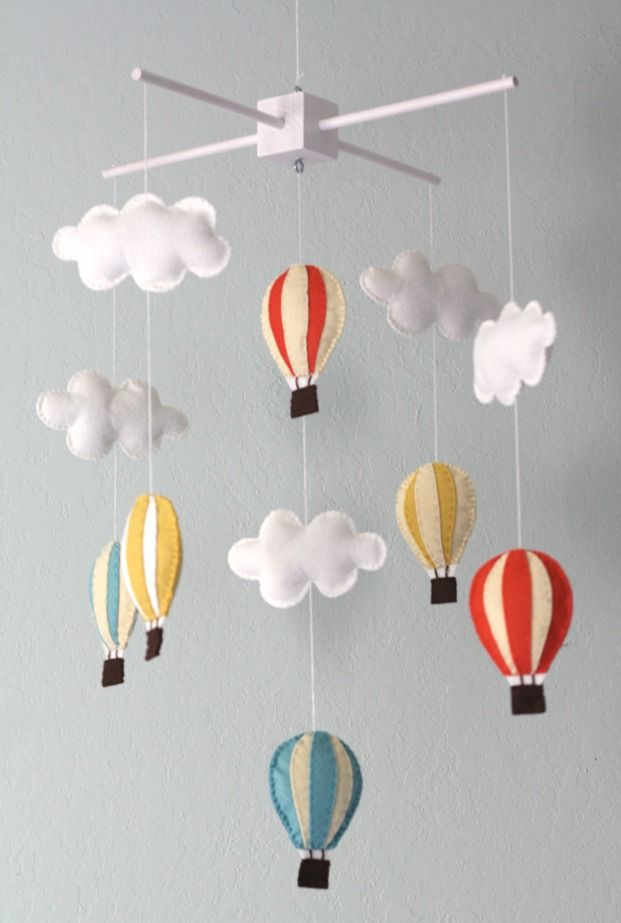 Hot Air Balloon Mobile Boys Nursery Gives Me An Idea To Making One For Future Nephew Or Niece