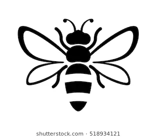 Black And White Bee Stencil Black And White Bee Stencil Shutterstock Bee Image Not My Own Please Don T Sue M Bee Stencil Black And White Bee Bee Drawing