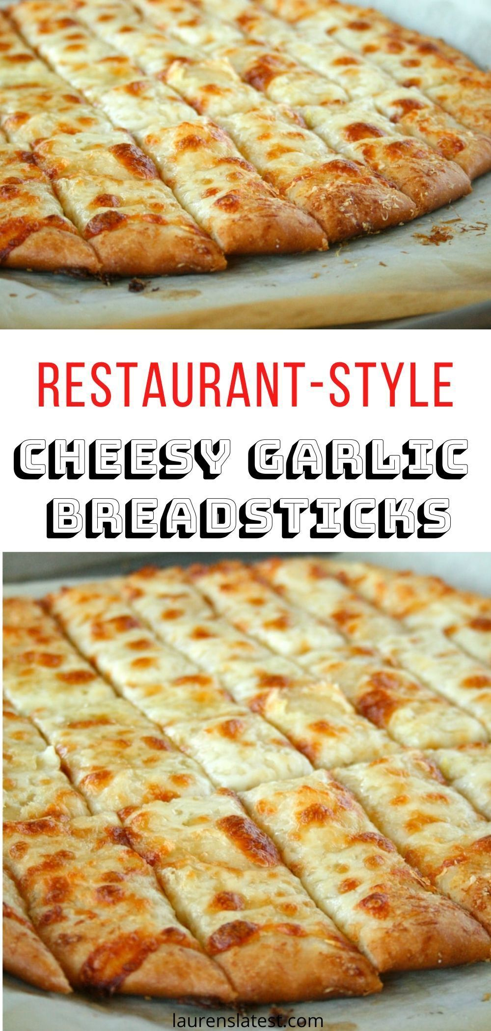 Pin On Cheesy Garlic Breadsticks