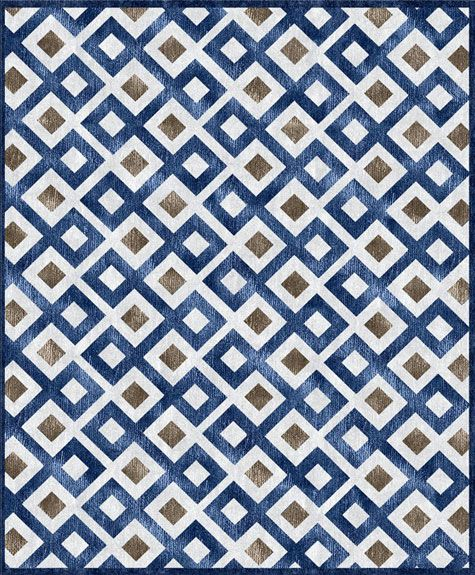 custom cool rugs--blue