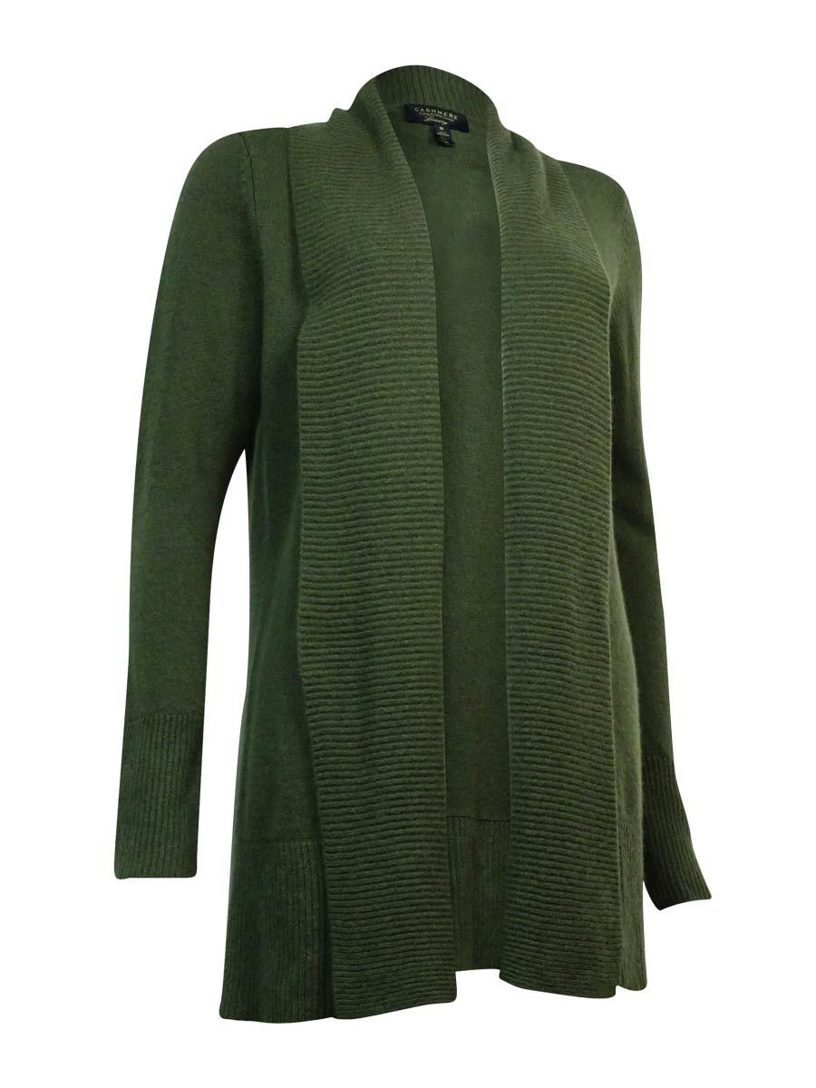 Charter Club Women's Ribbed Knit Cashmere Cardigan