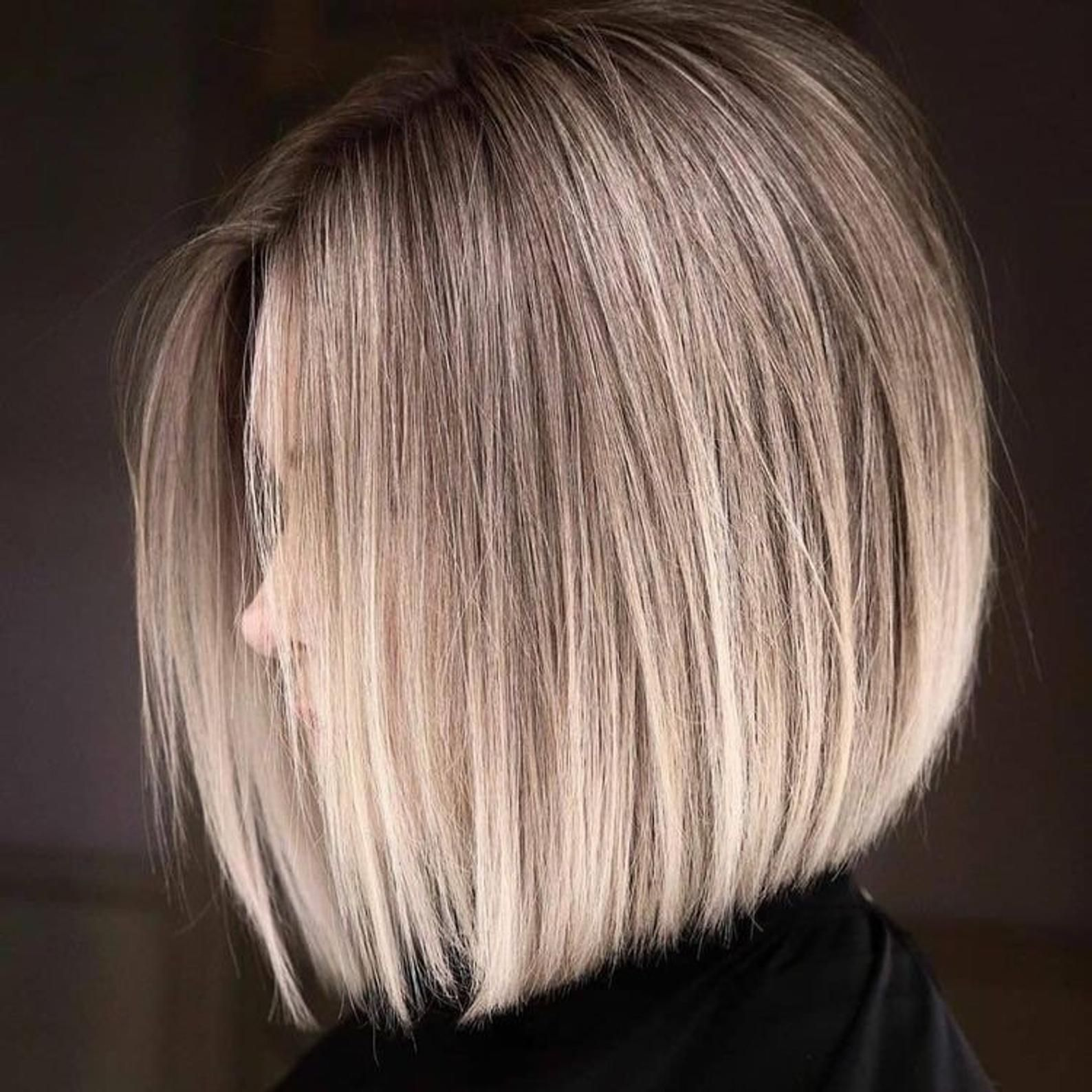 White Blonde Light Brown Highlights Bob Wig / Blon