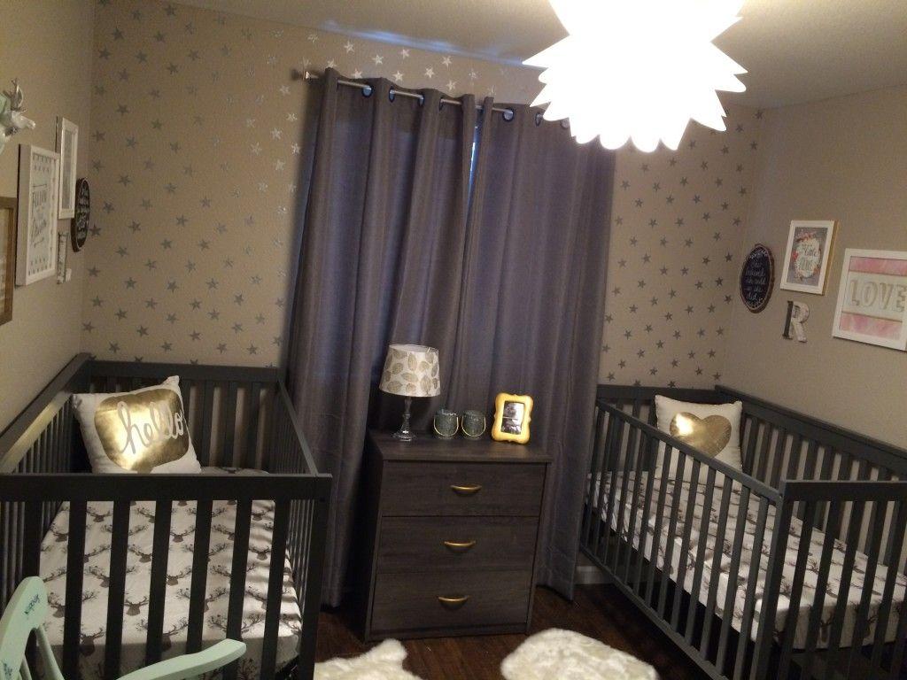 Gender Neutral Nursery for Twins, Woodland Glam | Boy girl twins ...