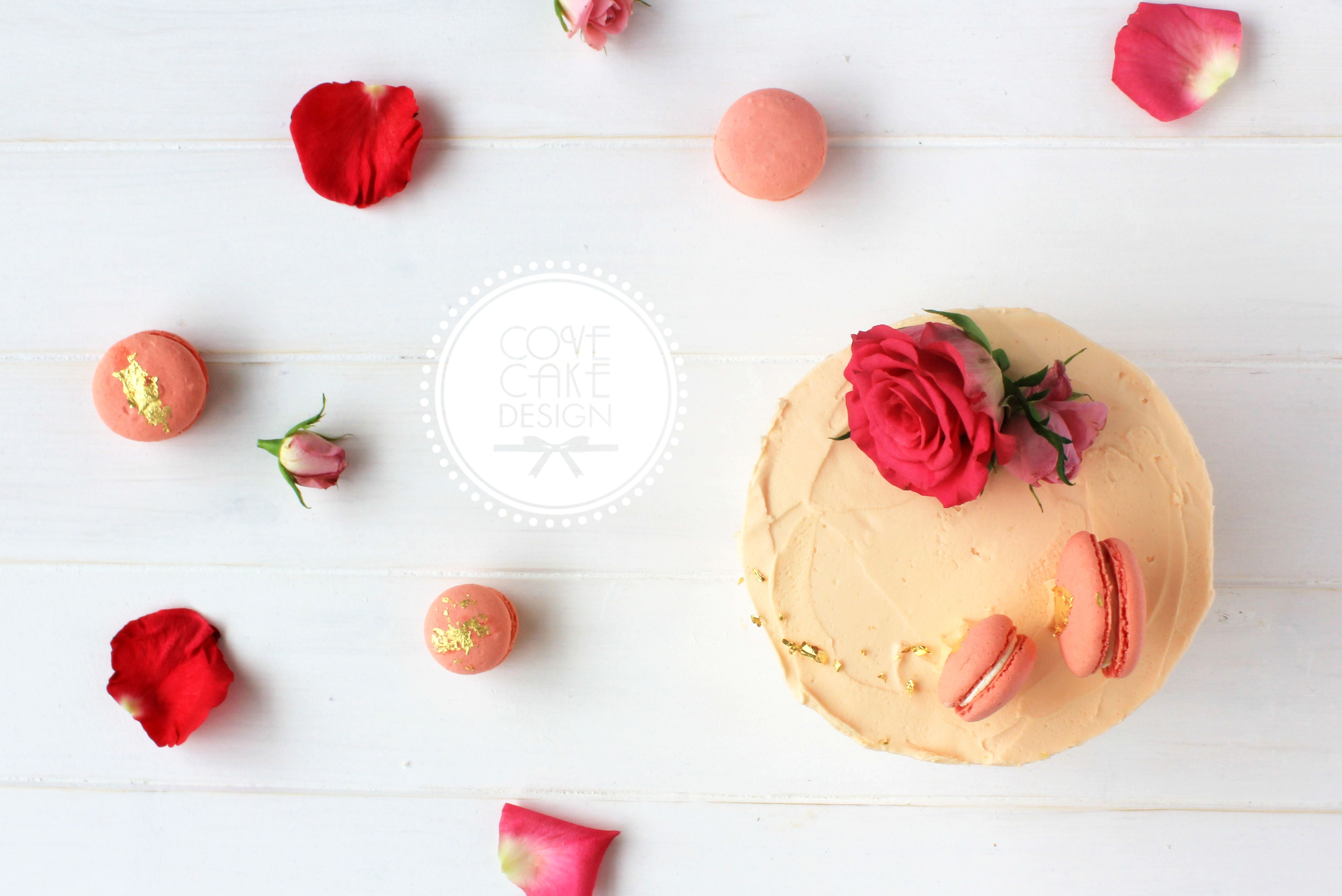 Orange and almond birthday cake with rosewater buttercream