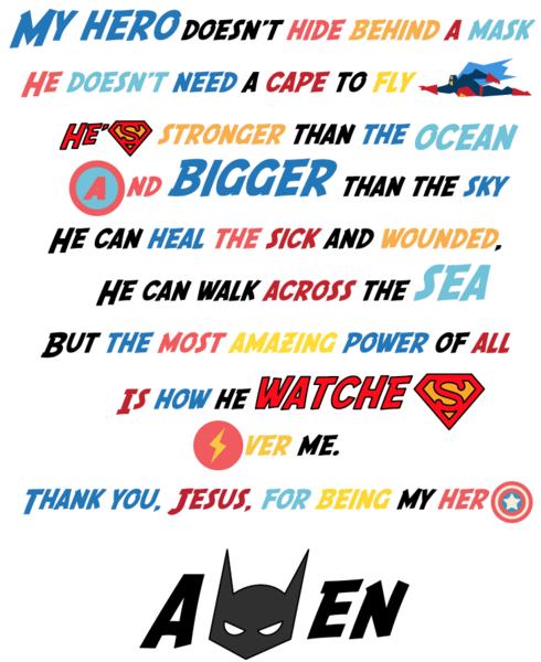Superhero Prayer Printable 100 Most Popular Free