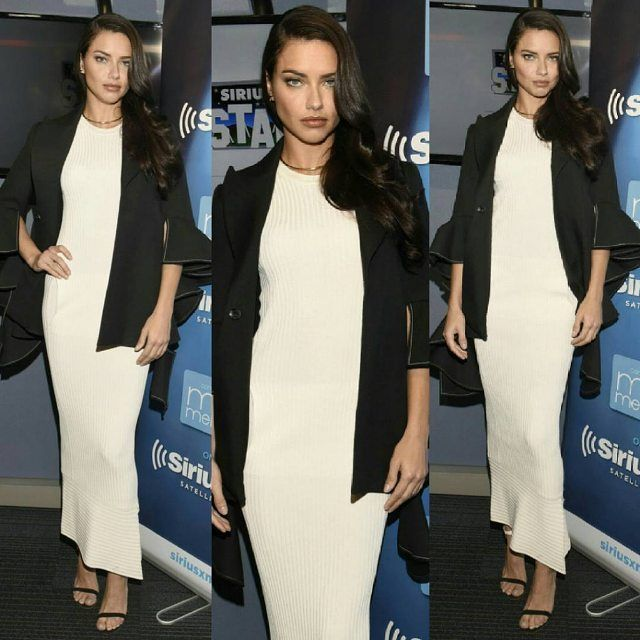 Adriana at the SiriusXM's Maria Menounos promoting the VS '16 list What is sexy?' mar 2016