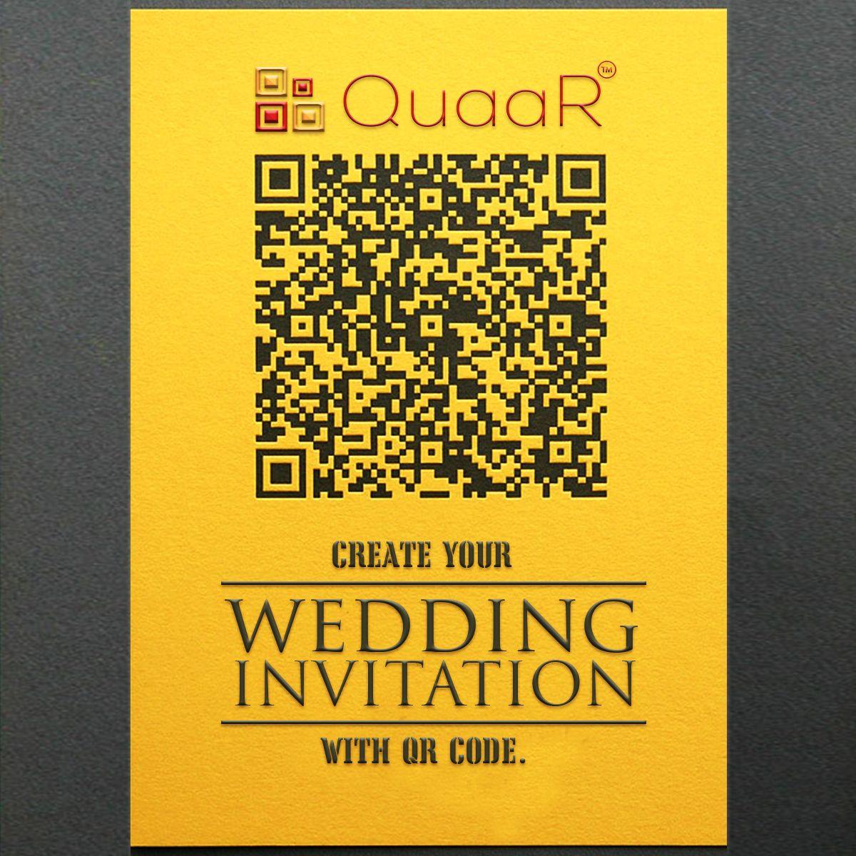 Create Free Qr code on your weddinginvitations to make
