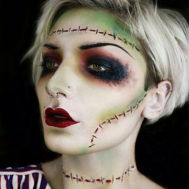 Bride Of Frankenstein Makeup Halloween Make Up Halloween Makeup