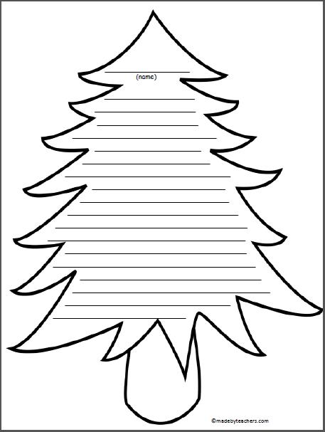 Tree Writing Paper Madebyteachers Christmas Writing Paper Printable Writing Paper Christmas Writing