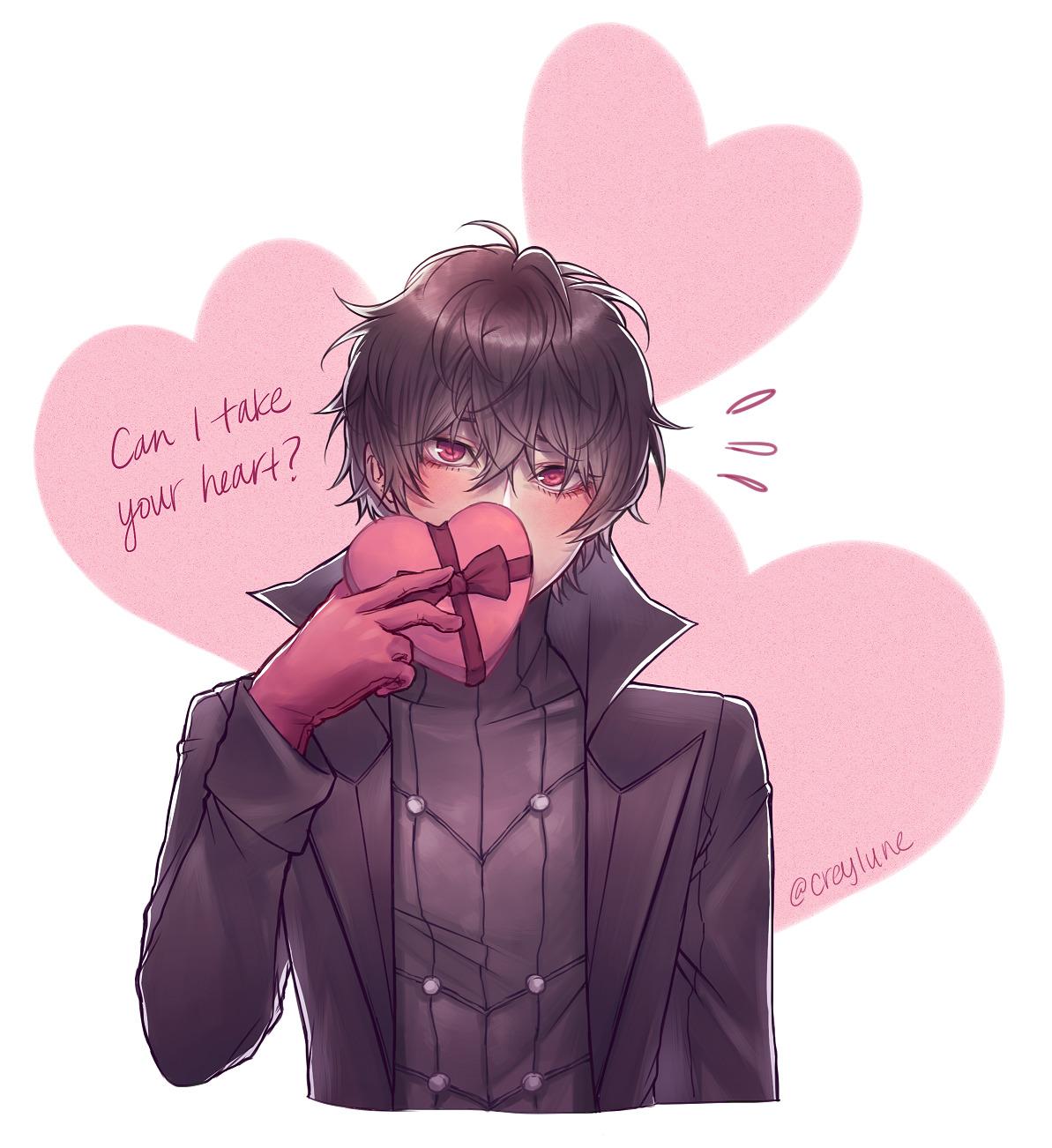 Happy Valentine Everyone Uwu In 2020 Persona 5 Anime Persona 5 Joker Valentines Anime