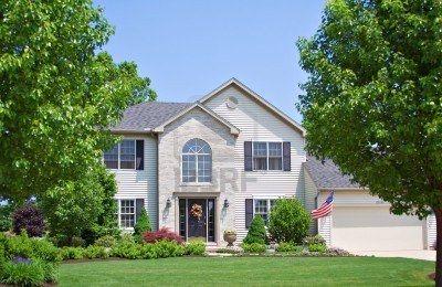 965403 une maison de banlieue dans l 39 ohio american flag pour memorial 400 260. Black Bedroom Furniture Sets. Home Design Ideas